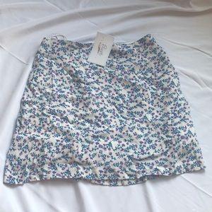 Floral Mini Skirt NWT